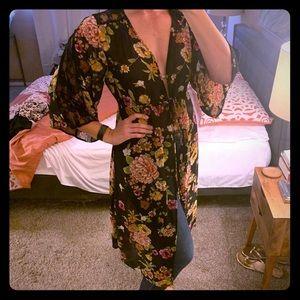 Bohemian floral duster kimono